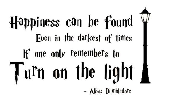 harry potter happiness wall art sticker quote decal vinyl any size
