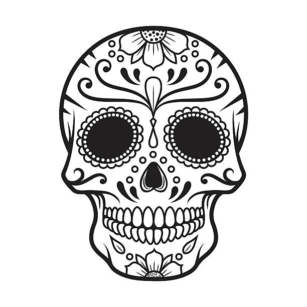 Sugar Skull window/wall sticker Halloween decorations ANY ...